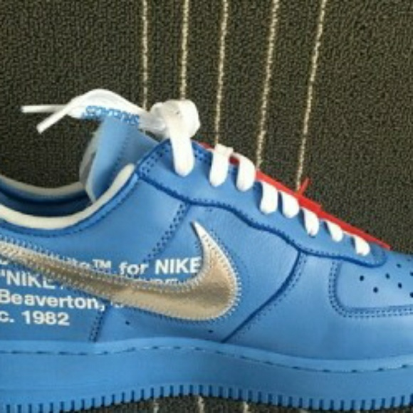 nike air force 1 off white university blue